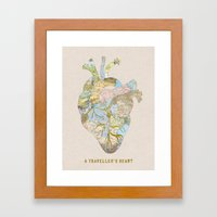 A Traveler's Heart Framed Art Print