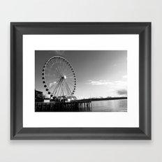 Seattle Great Wheel Framed Art Print