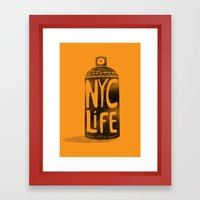 NYC Life Framed Art Print