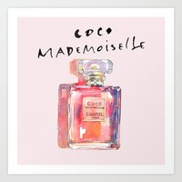Perfume Coco Mademoiselle Illustration Art Print