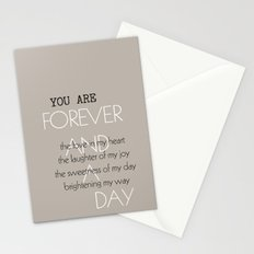 Forever and A Day Poem Stationery Cards