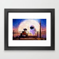 Wall-E & Eve - Painting Style Framed Art Print