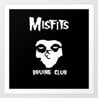 The Bovine Club Art Print