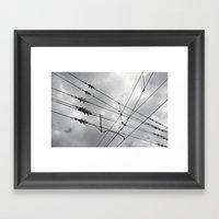 Above the train. Framed Art Print