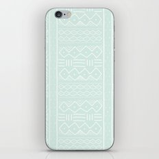 Mudcloth in mint iPhone & iPod Skin