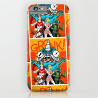 iPhone & iPod Case featuring the Cryptid Crew VS Uncle Corny Kaiju by Gimetzco's Damaged Goods