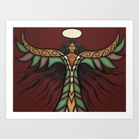 Thunderbird Woman Art Print
