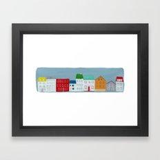 reykjavik iceland Framed Art Print