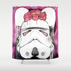 MINI TROOPER — On Pink Shower Curtain