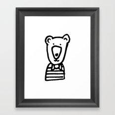 Monochrome bear nursery art Framed Art Print