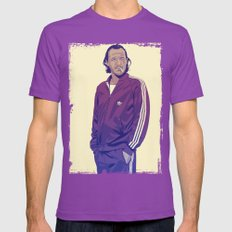 80/90s - Br. Mens Fitted Tee Ultraviolet SMALL