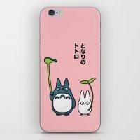 Chu & Chibi Totoro Pop art - Pink Version iPhone & iPod Skin