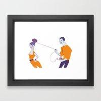 ''Como Dava Beijos Lento… Framed Art Print