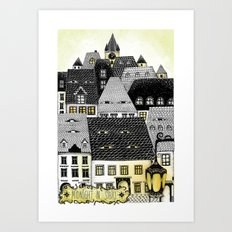 Midnight in Sibiu Art Print