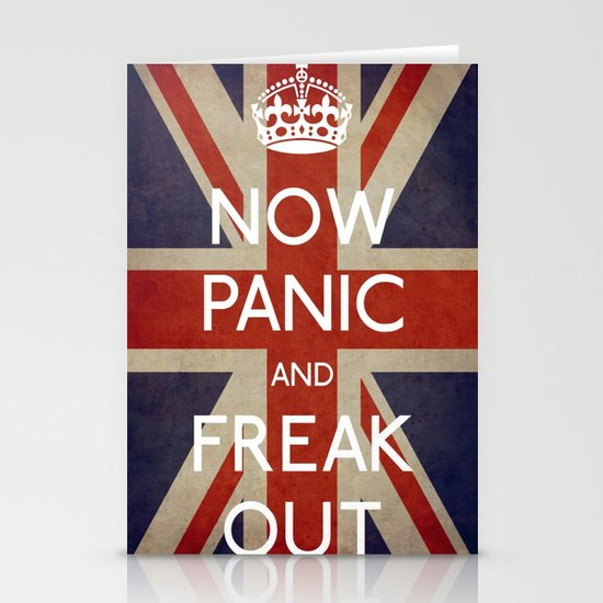 NOW PANIC AND FREAK OUT Stationery Card