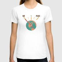 Low On Peace Womens Fitted Tee White SMALL