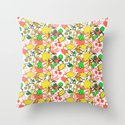 Lila's Flowers Repeat Throw Pillow