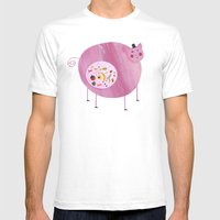 Greedy Pig Mens Fitted Tee White SMALL