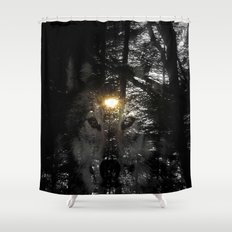 Wolf Your Time Approache… Shower Curtain