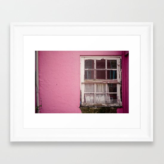 My lonely window Framed Art Print
