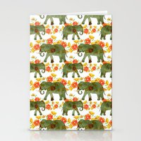 Wading Elephants Stationery Cards