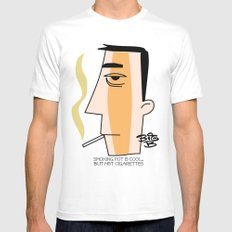Cigarettes White Mens Fitted Tee SMALL