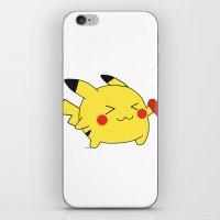 pikachu in love  iPhone & iPod Skin