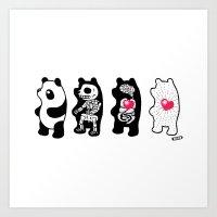 Panda Anatomy Art Print