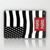 Flag America-Paris Laptop & iPad Skin