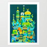 Structura 7 Art Print