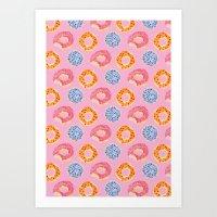 Sweet Things: Doughnuts … Art Print