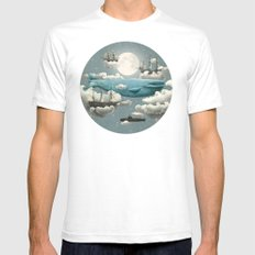 Ocean Meets Sky - colour option Mens Fitted Tee White SMALL