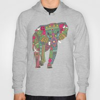 Painted Elephant Pink Hoody
