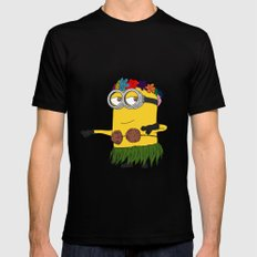 Hawaii Minion  Black Mens Fitted Tee SMALL