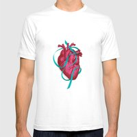 By Heart Mens Fitted Tee White SMALL