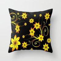 Flower Fantasy 3 Throw Pillow