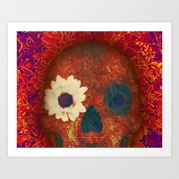SOMETHING IN THE FLOWER … Art Print