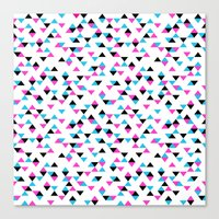 Electric Triangles Canvas Print