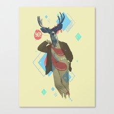 Yo! Deer Man Canvas Print