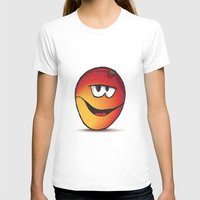 MANGO Womens Fitted Tee White SMALL