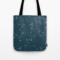 Spikes in navy Tote Bag