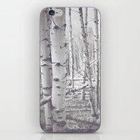 Black And White Aspens iPhone & iPod Skin