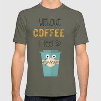 DEPRESSO Mens Fitted Tee Lieutenant SMALL