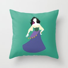 Esmeralda From The Hunch… Throw Pillow
