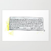 Qwerty. Art Print