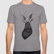 The Jackalope Mens Fitted Tee Athletic Grey SMALL