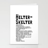 Helter Skelter (black On… Stationery Cards