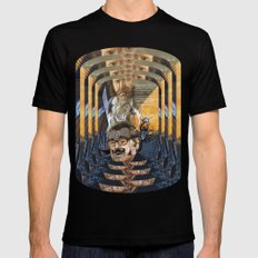 Psychoactive Bear 1 SMALL Black Mens Fitted Tee