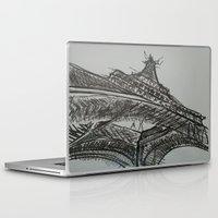 eiffel Laptop & iPad Skins featuring Eiffel by Esteban Garza