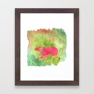 Baer  With Flowers I Framed Art Print